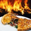 Calzone pizza on plate — Stock Photo #69308483