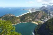 Rio de Janeiro city from cable car — Stock Photo