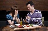 Man making engagement proposition — Stock Photo