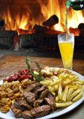 Пиво мяса Фрис — Стоковое фото