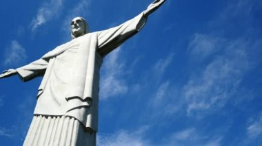 The Christ the Redeemer  statue — Stock Video