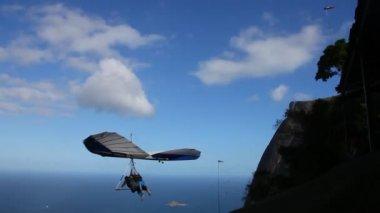 Gliding flight in the beautiful stone — Stock Video
