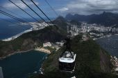 Sugar Loaf Mountain cable car — Stock Photo