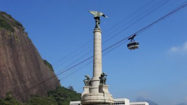 Sugar Loaf Mountain cable car — Stock Video