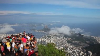 City of Rio de Janeiro, view from view point — Stock Video