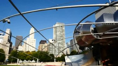 ミレニアム パークとシカゴ、イリノイ. — ストックビデオ