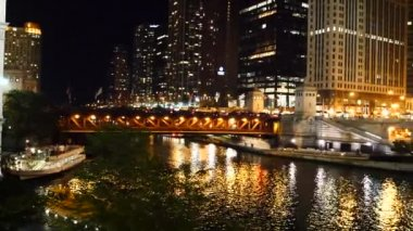 The Chicago River , Great Lakes — Stock Video