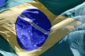 Waving Brazilian Flag — Stock Photo
