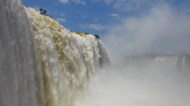 The Iguazu Falls view — Stock Video