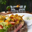 Roast beef with vegetables and salad — Stock Photo #69897661