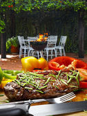 Just cooked Grilled steaks — Stock Photo