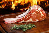 Raw tasty steaks — Stock Photo