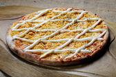 Fresh and tasty italian pizza — Stock Photo