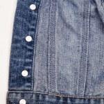 Closeup of a blue denim jacket — Stock Photo #55747987