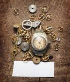Old watches and gears  — ストック写真