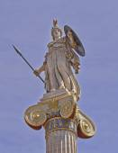 Athena statue, the goddess of science and wisdom — Stock Photo