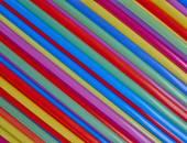 Drinking straws, colorful background — Stockfoto