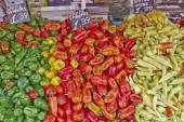 Colorful organic peppers — Stock Photo