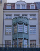 Old office building facade, Leipzig, Germany — Stock Photo