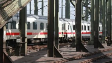 Trains in Cologne, Germany — Video Stock
