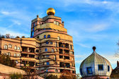 The view of Hundertwasser house in Darmstadt — Stock Photo