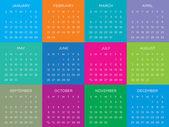 Calendar Vector Template Schedule 2016 — Stock Vector