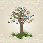 Illustration Christmas tree decoration — Stock Photo
