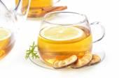 Glass rosehip tea — Stock Photo