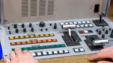 Video mixing console — Stock Video