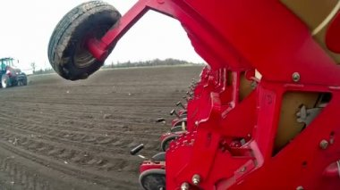 Seeding machine in operation — Stock Video