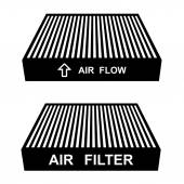 Air filter symbols — Vetorial Stock