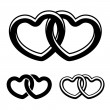 Linked hearts elements — Stock Vector #59096867
