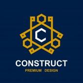 Construct pictogram design — Stock Vector