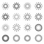 Starbursts black symbols — Stock Vector