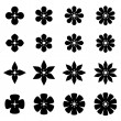Flower black white symbols — Stock Vector #69097819