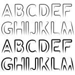Minimal contour alphabet font - part 1 — Stock Vector #69097887