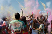 People Create Color Explosion At Bubble Palooza Event — Stock Photo