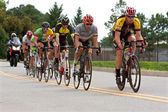 Cyclists Sprint Down Straightaway In Duluth Criterium Event — Stok fotoğraf