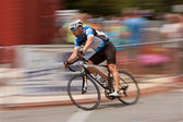 Motion Blur Of Cyclist Competing In Georgia Cup Criterium — Stock Photo