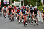Pack Of Cyclists Compete In Duluth Criterium Event — Stock Photo