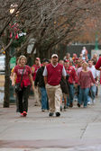 Alabama Fans Walk Toward Georgia Dome For SEC Title Game — Stock Photo