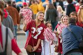Female Alabama Fans Pose For Photo Outside Georgia Dome — Stock Photo