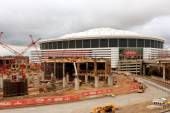 Construction Site Of New Stadium Sits Next To Georgia Dome — Stock Photo