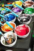 Melted Crayons Provide Vibrant Paints For Art Projects — Stock Photo