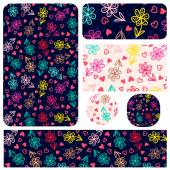 Set floral elements for corporate identity templates — Stockvektor