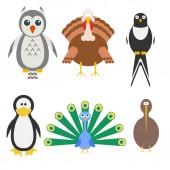 Birds icon set. Vector illustration — Stock Vector