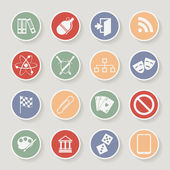 Universal Round Icons For Web and Mobile. Vector illustration — Stock Vector