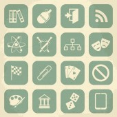 Universal Retro Icons For Web and Mobile. Vector illustration — Stock Vector