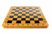 Empty chessboard in brown design — Foto de Stock