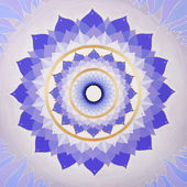 Abstract purple painted picture with circle pattern, mandala of — Stock Photo